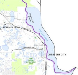 Crescent Lake Map