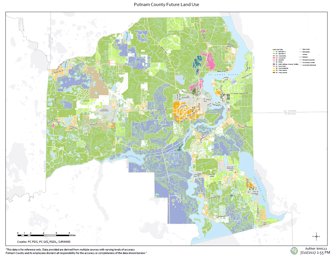 Putnam County Future Land Use Map