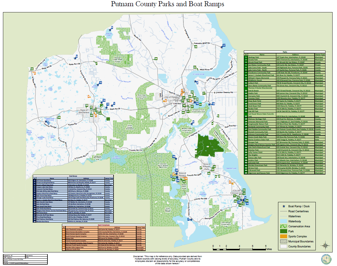 Parks and Boat Ramps Map