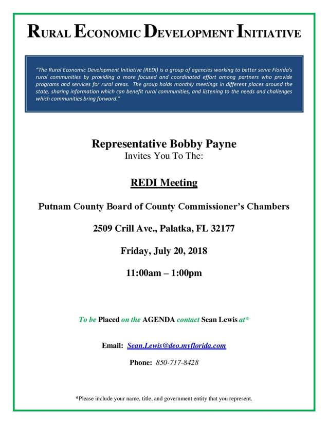Rural Economic Development Initiative Meeting, 7/20