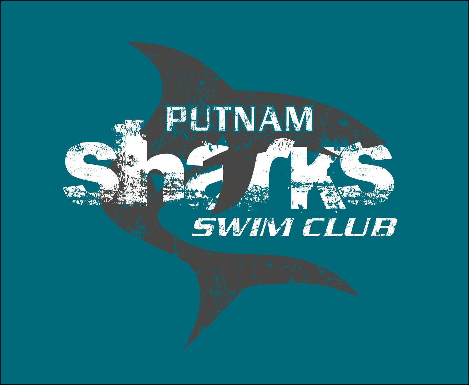 Putnam Sharks Swim club logo